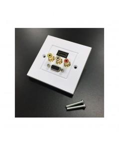 HDMI, VGA, AV (RCA) WALL PLATE รุ่น  IW-HVRCA
