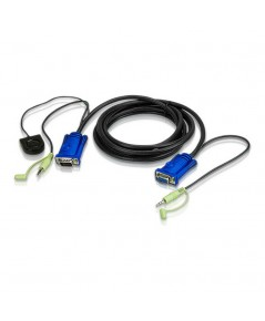 1.8M VGA/AUDIO CABLE BUILT-IN PORT SWITCHING รุ่น  2L-5202B