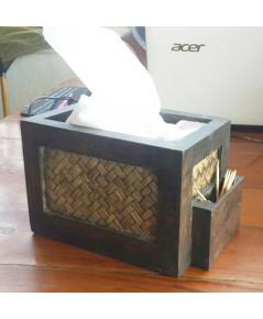 กล่องใส่กระดาษทิชชู่พร้อมกล่องใส่ไม้จิ้มฟัน