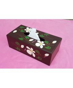 กล่องใส่กระดาษทิชชู่แบบเพ้นท์ลายดอก