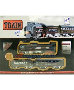 รถไฟชุดเล็ก มีไฟที่หัวขบวน มี 2 โบกี้พ่วง  รางวงกลมเส้นผ่านศูนย์กลาง 67.5 ซม.