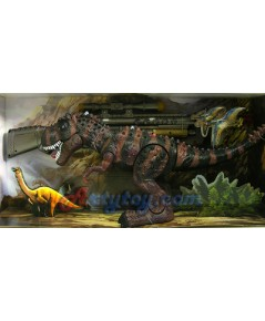 Dinosuar Super Power (JTN) ไดโนเสาร์เดินได้ พร้อมปืนไรเฟิล สำหรับยิงให้เดินหรือหยุดได้