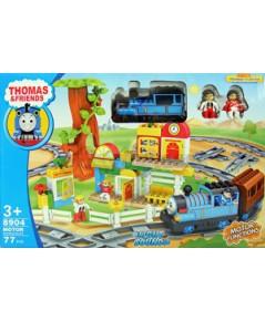 ตัวต่อรถไฟลาย Thomas (ZIPN) สีสันสดใส มีไฟมีเสียง จำนวน 77 ชิ้นสามารถต่อรางรถไฟและฉากได้ตามจินตนาการ