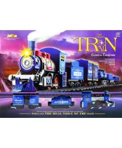 รถไฟวิ่งราง Fast Forward Train(JNB)  รถไฟคลาสสิกมีไฟมีเสียงมีควัน