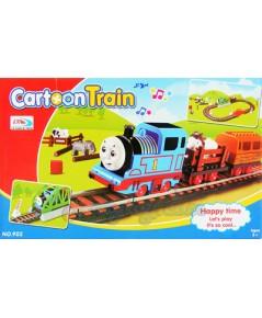 Cartoon Train (FAN) รถไฟวิ่งราง พร้อมขบวนพ่วง 2 ขบวน