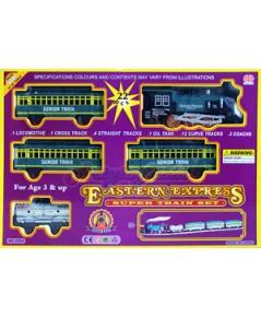 รถไฟวิ่งราง Eastern Express (JNB)  รถไฟคลาสสิกมีไฟมีเสียงมีควัน รางขนาดยาวกว่า 5 เมตร