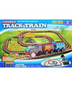 รถไฟ Lovely Track Train (MJTN) รถไฟชุดใหญ่ มี 2 โบกี้พ่วง มีไฟ มีเสียง