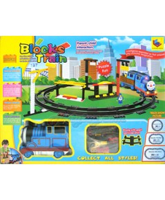 Block Train (JIT) รถไฟบล๊อคเลโก้ จำนวน 136 ชิ้น พร้อมขบวนพ่วง