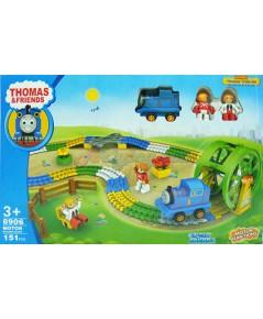 Thomas วิ่งราง8906 (TNB) ตัวต่อหัวรถไฟโทมัสวิ่งรางพร้อมชุดวงล้อชิงช้าสวรรค์