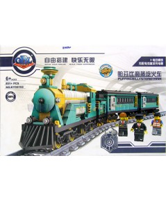รถไฟตัวต่อ KY98102 (ZAPN) เพลิดเพลินในการต่อและวิ่งได้จริง มีไฟมีเสียง