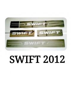 SUZUKI SWIFT 2012 ชายบันได โครเมี่ยม มีสกรีน