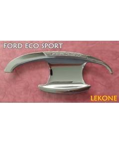 FORD ECO SPORT เบ้ามือเปิด ทรงมีปีกบน มีสกรีน งานโครเมี่ยม ยี่ห้อ Lekone