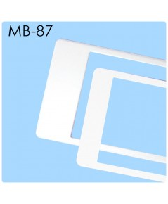 กรอบป้ายทะเบียนกันน้ำ MB-87 สีขาวล้วน ALL WHITE สั้น-ยาว ระบบคลิปล็อค 8 จุด พร้อมน็อตอะไหล่