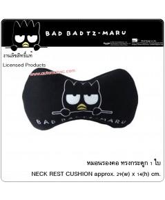 Bad Badtz-Maru BLACK แบดมารุ สีดำ หมอนรองคอ ทรงกระดูก 1ชิ้น NECK CUSHION ลิขสิทธิ์แท้
