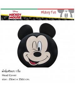 Mickey Mouse FUN ที่หุ้มหัวเบาะ 1 ชิ้น ใช้หุ้มหัวเบาะรถยนต์ ปกป้องจากความร้อน รอยขีดข่วน แท้