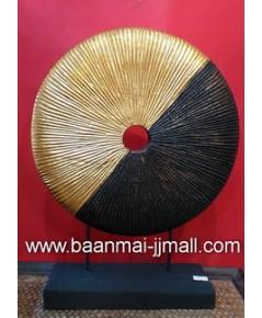 เหรียญอุณาโลมทองมหามงคล ทำจากไม้ปิดแผ่นทองคำ