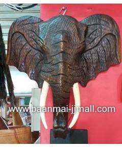 หัวช้างอัฟริกาติดฝาพนัง
