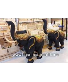 ช้างชูงวงทรงเครื่องทอง ขนาด สูง 22 นิ้ว หรือ 56 ซม. ยาว 24 นิ้ว
