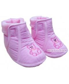 รองเท้าบู๊ทเด็กบุนวม ชมพู 9-12 เดือน