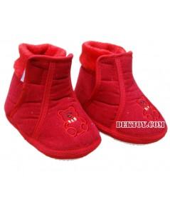 รองเท้าบู๊ทเด็กบุนวม แดง 9-12 เดือน