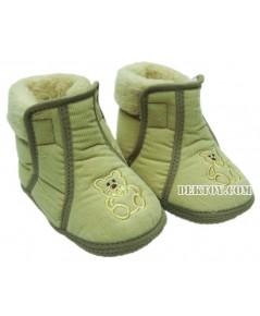 รองเท้าบู๊ทเด็กบุนวม น้ำตาล 9-12 เดือน