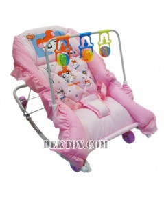 เปลโยกเด็กแฮมทาโร่มีของเล่น สีชมพู