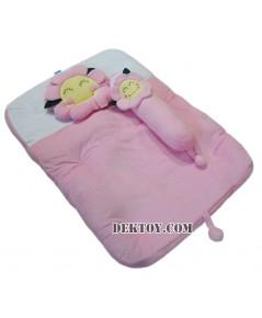 ชุดที่นอนเด็กปิคนิคขนหนูดอกไม้ปาป้า