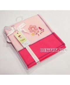 ผ้าห่มสำลีเด็ก BLK-47 สีชมพู