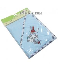 ผ้าห่อตัวเด็กทารก 119-1 ลายวัวสีฟ้า