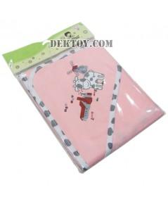 ผ้าห่อตัวเด็กทารก 119-1 ลายวัวสีชมพู