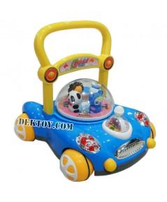 รถผลักเดินปรับหนืดได้ สีฟ้า