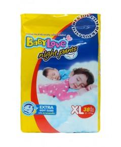 เบบี้เลิฟ ไนท์แพ้นส์ ไซส์ XL 38 ชิ้น BabyLove Night pants