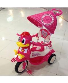 รถสามล้อเด็กหน้าเพนกวินก้นใหญ่ สีชมพู BCQB0020