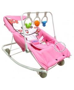 เปลโยกเด็กคิตตี้-kitty gardenมีของเล่นสีชมพู