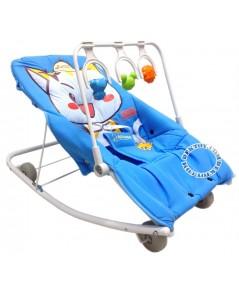 เปลโยกเด็กคิตตี้-kitty gardenมีของเล่นสีฟ้า