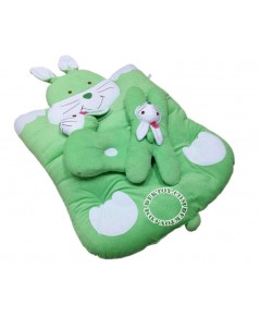 ชุดที่นอนเด็กขนหนูกระต่าย สีเขียว