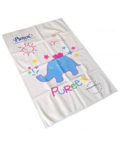 ผ้ายางแผ่นเรียบPureenไซส์ L ลายช้าง 60 x 90 ซม. 150070