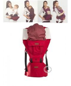 เป้อุ้มเด็กพร้อมที่นั่งเด็กคาดเอว Kalemi 3 D Style USE-HT1008 สีแดง