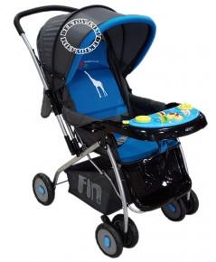Fin Babiesplus รถเข็นเด็ก ฟินเบบี้พลัส มีมุ้ง CAR-709E สีฟ้า