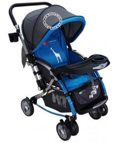 Fin Babiesplus รถเข็นเด็กปรับโยกได้ ฟินเบบี้พลัส มีมุ้ง 2 in 1 CAR-721S สีฟ้า