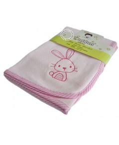 ผ้าห่มเด็กคอตตอน Tomtomjoyful BLK-49 สีชมพู