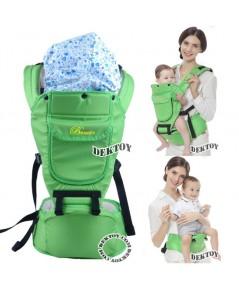 เป้อุ้มเด็ก+ฮิปซีท 4 in 1 carier Hipsaet Becute TQ800 สีเขียว