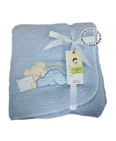 ผ้าห่มเด็กขนหนู Tom tom joyful BLK-31 สีฟ้า