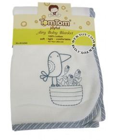 ผ้าห่มเด็กคอตตอน Tomtomjoyful BLK-49 สีขาว