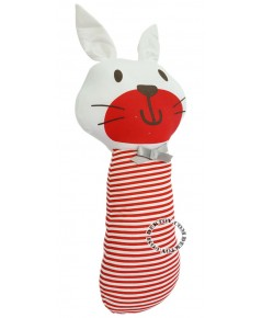 หมอนข้างเด็ก Tomtom joyful 9044 กระต่ายสีแดง
