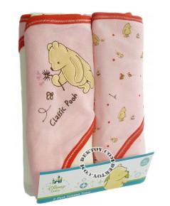 ชุดผ้าห่อตัวเด็กพูห์ สีชมพู 30 x 30 นิ้ว แพ็ค 2 ผืน