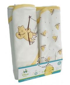 ชุดผ้าห่อตัวเด็กพูห์ สีครีม 30 x 30 นิ้ว แพ็ค 2 ผืน