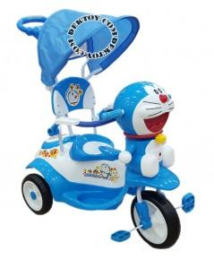 รถสามล้อเด็กหน้าโดราเอมอนก้นใหญ่ สีฟ้า BCDM904