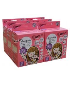 ถุงเก็บน้ำนมแม่ซันมัมเบบี้50ใบ6กล่อง300ใบ