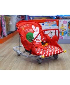 เปลโยกเด็กBEJOY441ลายLittle Bunnyสีแดง